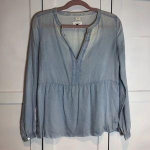 🐢 LOFT Softened LS blouse - Size S